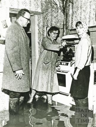 A flooded kitchen c.1960