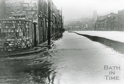 Floods on Broad Quay, 27 Feb 1937