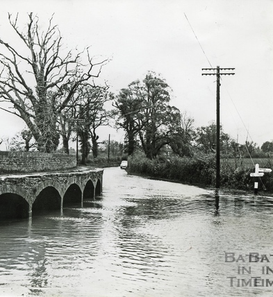 Flooded ford at Tytherton c.1968