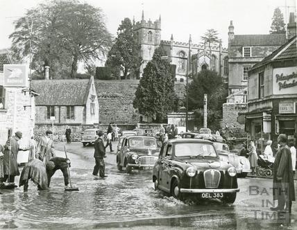 Floods in Weston Village 28 Oct 1960