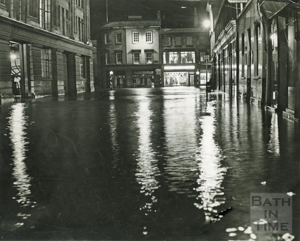 Floods in Dorchester Street c.1968