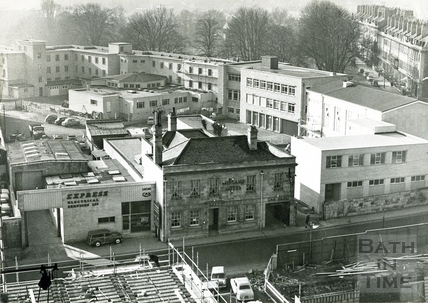 View towards Green Park from a tower crane c.1968
