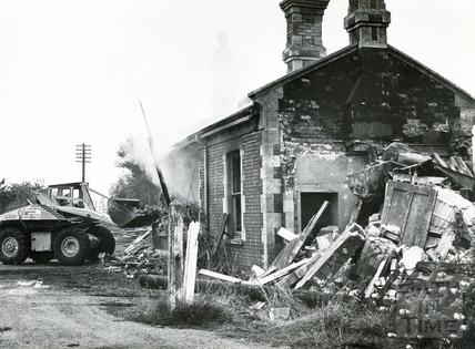 The demolition of Midsomer Norton & Welton Station