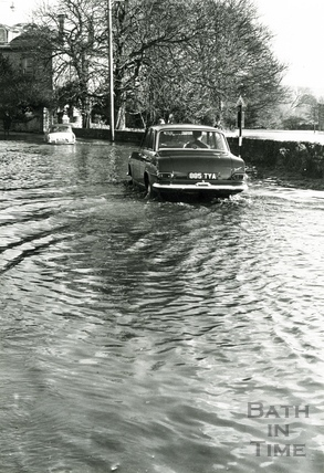 Floods, possibly in Keynsham c.1960s