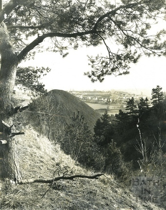 View of Radstock and slag heaps c.1970