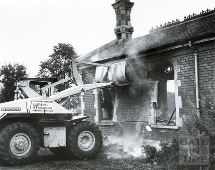 The demolition of Midsomer Norton & Welton Station, August 1969