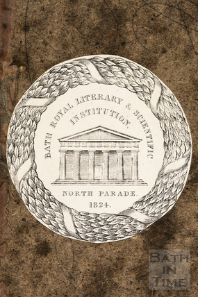 Bookplate for the Bath Royal Literary and Scientific Institution, North Parade 1824