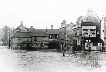 Floods on Broad Quay, 27 Feb 1937