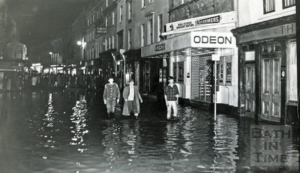 Floods in Southgate Street, c.1968