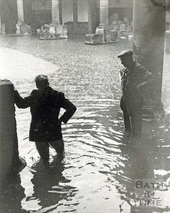 The Roman Baths flooded c.Oct 1960