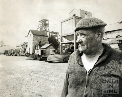 Vic Sage at Kilmersdon Colliery 28 August 1973