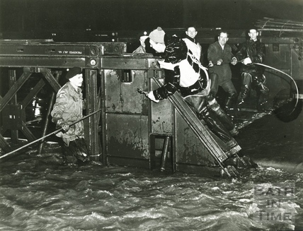 Drama on the Wessex Bridge during the floods c.1963