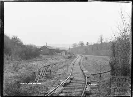 Constructing the Camerton to Limpley Stoke Railway, Midford c.1908