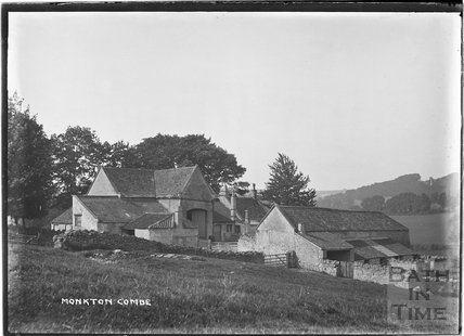 Monkton Combe, farm buildings c.1904
