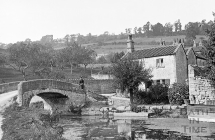 The canal bridge, Mil Lane, Monkton Combe c.1904 - detail
