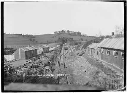 Constructing the Camerton to Limpley Stoke Railway, Combe Hay c.1908