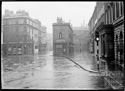 Old Bond Street Island from Milsom Street, looking south c.1920