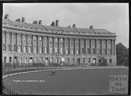 The Royal Crescent looking east c.1920