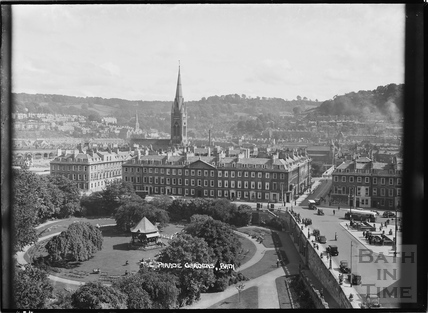 The Parade Gardens from the Empire Hotel 11 Sept 1938