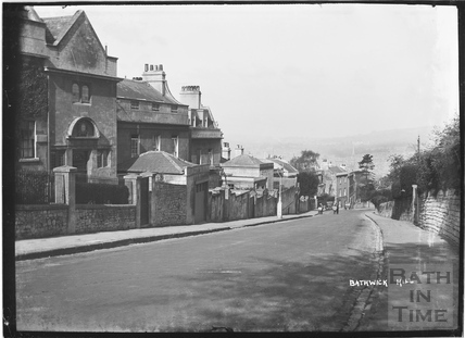 Bathwick Hill, left side going down c.1920
