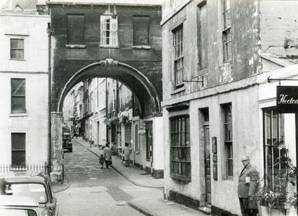 Looking towards Queen Street from Trim Street c.1960s