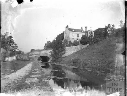 The Somersetshire Coal Canal at Brassknocker Basin, Monkton Combe c.1904