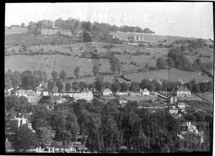 View of Bathwick with Sham Castle in the background c.1930s