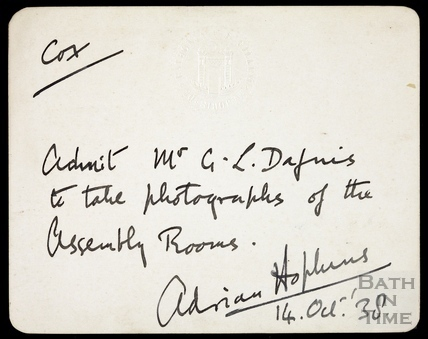 Permit from Mayor Adrian Hopkins 14 Oct 1938