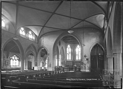 Inside Holy Trinity Church, Combe Down c.1930s