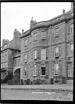 Beckford House, Lansdown Crescent, the former home of William Beckford c.1930s