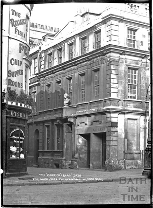 The Garrick's Head, Theatre Royal, Sawclose c.1930s