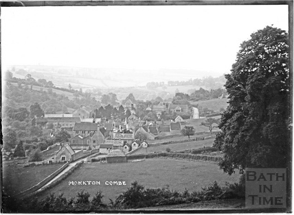 View of Monkton Combe from Brassknocker Hill, looking west c.1910