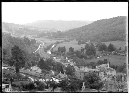 View of the Limpley Stoke Valley towards Dundas Aqueduct c.1904