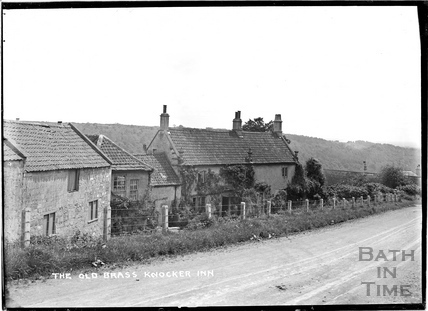The Old Brassknocker Inn, Brassknocker Hill, Monkton Combe c.1904