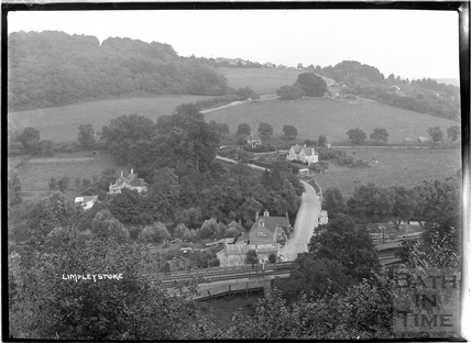 Limpley Stoke, view up Winsley Hill over railway c.1930s