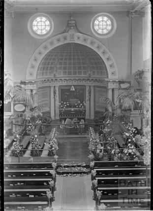 Inside St James Church c.1930s