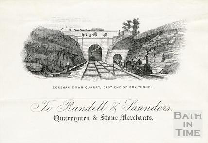To Randell & Saunders, Quarrymen & Stone Merchants letterhead c.1850