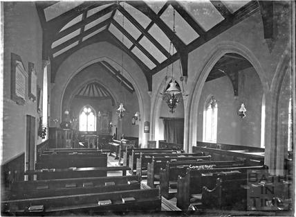 Inside Combe Hay Church c.1930s