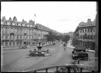 Great Pulteney Street and Laura Place c.1930s