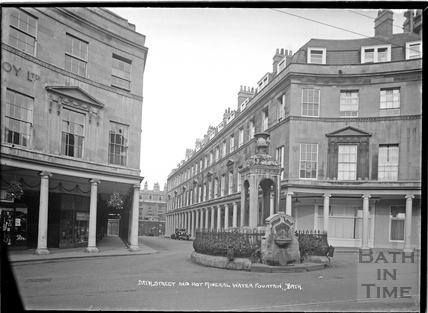 The Mineral Water Fountain and Bath Street c.1930s