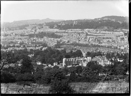 View of Bath towards Camden Crescent from Sham Castle, c.1930s