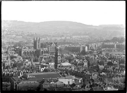 View over Southgate from Beechen Cliff c.1930s