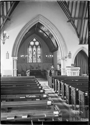 Inside St Luke's church, Wellsway c.1905