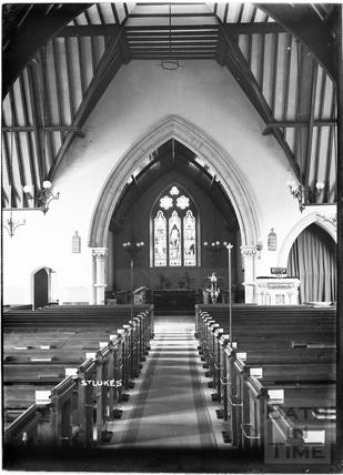 Inside St Luke's church, Wellsway c.1908