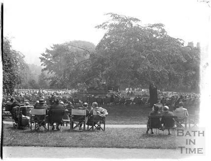 Tea in the sun in Parade Gardens c.1930s