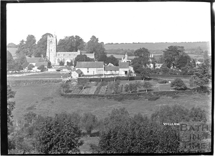 View of Wellow and church, c.1930s