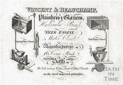 Trade Card for Vincent & Beauchamp, Plumber & Glaziers 1819