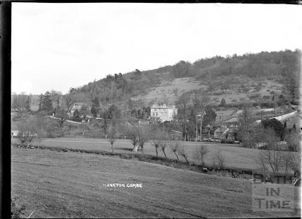 View towards Waterhouse, Monkton Combe c.1904