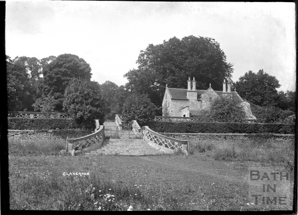 The steps leading up to the former Claverton Manor c.1930s