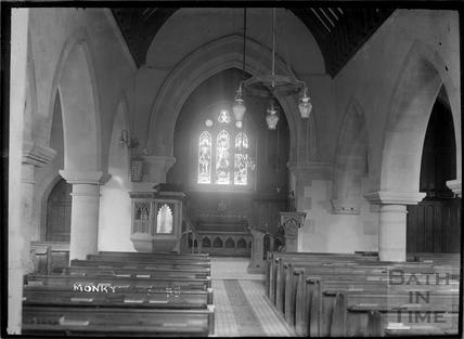 Inside St Michaels Church, Monkton Combe c.1904
